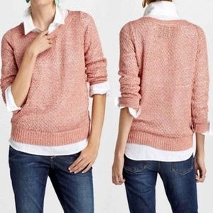 ANTHROPOLOGIE Guinevere Glimmered Pointelle Top